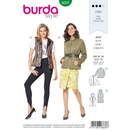 Quilted Jacket Sewing Pattern - Burda Women N°6337