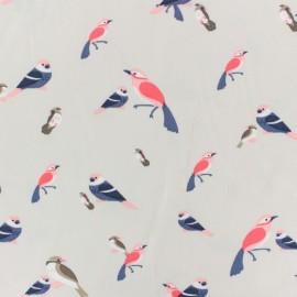 Viscose fabric by Penelope® - beige Birdy x 10cm