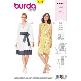 Patron Robe Portefeuille Femme Burda N°6338