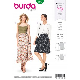 Wrap Skirt Sewing Pattern - Burda Women N°6340