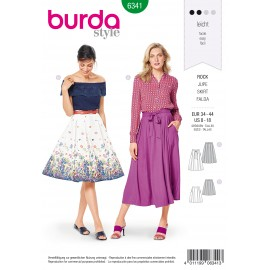 Pleated Skirt Sewing Pattern - Burda Women N°6341