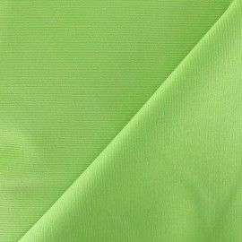 Tissu velours milleraies 200gr/ml vert anis