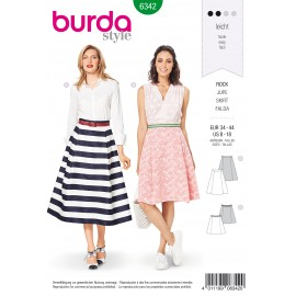Trapeze Skirt Sewing Pattern - Burda Women N°6342