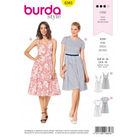 Pleated Skirt Sewing Pattern - Burda Women N°6343
