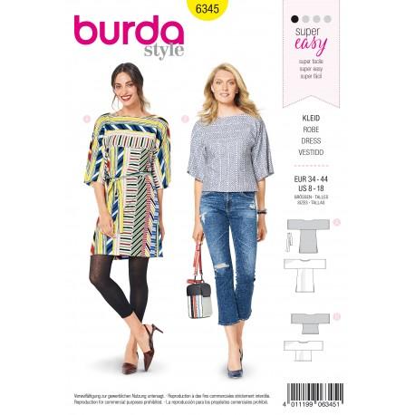 Dress Top Sewing Pattern - Burda Women N°6345