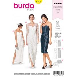 Patron Robe de Soirée Femme Burda N°6346