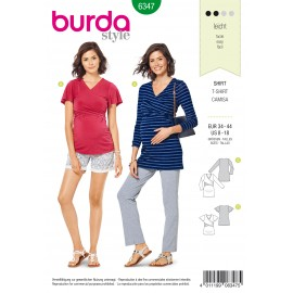 Maternity Top Sewing Pattern - Burda Women N°6347