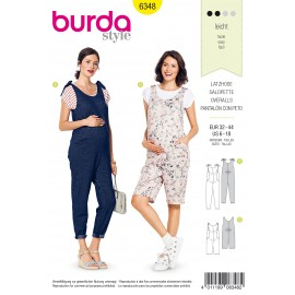 Maternity Overalls Sewing Pattern - Burda Women N°6348