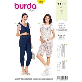 Maternity Overalls Sewing Pattern - Burda Women N°6348