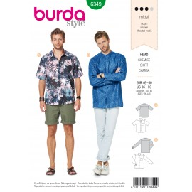 Straight Shirt Sewing Pattern - Burda Men N°6349