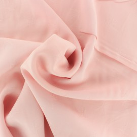 Viscose voile fabric - light pink Envol x 10cm