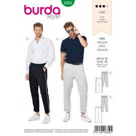 Pants Sewing Pattern - Burda Men N°6350