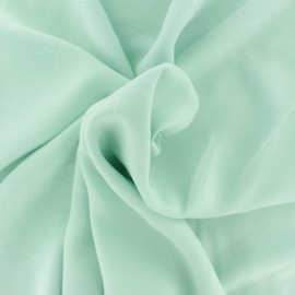 ♥ Coupon 70 cm X 140 cm ♥ Viscose voile fabric - light green Envol
