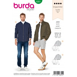 Zipped Jacket Sewing Pattern - Burda Men N°6351