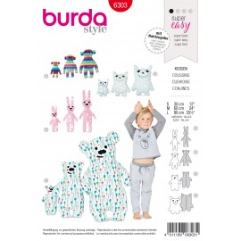 Children Cushions Sewing Pattern - Burda N°6303