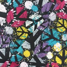 Tissu déperlant souple Peace and love - noir x 10cm