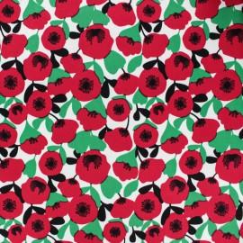 Gabardine fabric - Red Mekko x 10cm