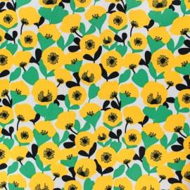 Gabardine fabric - yellow Mekko x 10cm