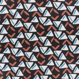 ♥ Coupon 10 cm X 145 cm ♥ Gabardine fabric - Midnight blue Jasper