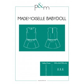 Patron P&M Patterns Robe Mlle Babydoll - Du 32 au 46