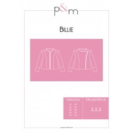 Patron P&M Patterns Veste Billie - De 34 à 52