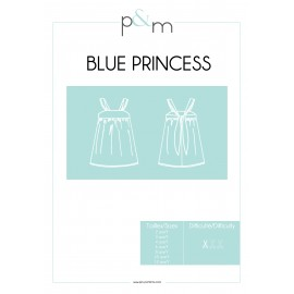 Patron P&M Patterns Robe Blue Princess - De 2 à 12 ans