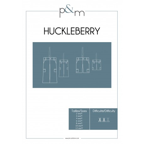 Pants Sewing Pattern - P&M Patterns Huckleberry