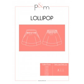 Skirt Sewing Pattern - P&M Patterns Lollipop