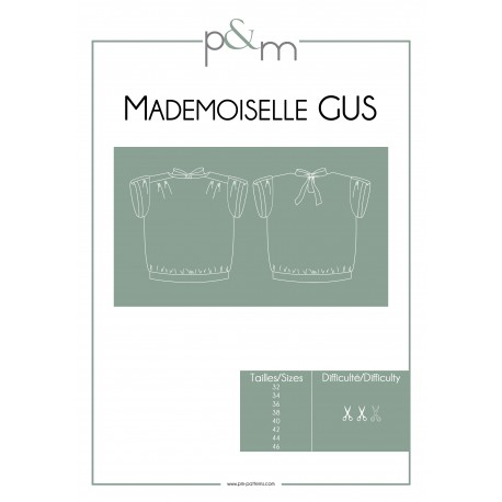 Adult Top Sewing Pattern - P&M Patterns Mlle Gus