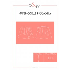 Adult Skirt Sewing Pattern - P&M Patterns Mlle Piccadilly