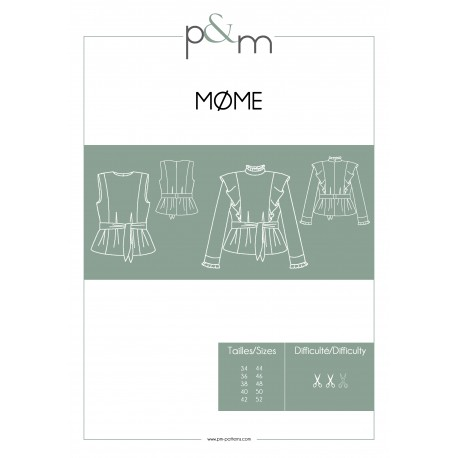 Adult Blouse Sewing Pattern - P&M Patterns Mome