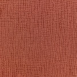 Double gauze fabric MPM - Terracotta x 10cm