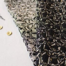 Jacquard fabric - Shimmer Chic Atelier brunette x 10cm