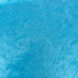 ♥ Coupon 200 cm X 140 cm ♥ Tissu Velours frappé bleu