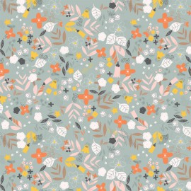 Dashwood Rayon fabric - Grey Emmy x 10cm
