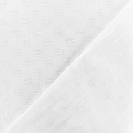 Dotted Cotton voile Fabric - white Isla x 10cm
