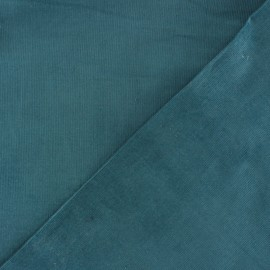 Tissu velours milleraies 200gr/ml canard