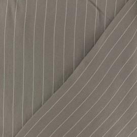Striped Viscose fabric - beige Gabrielle x 10cm