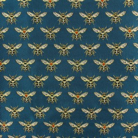 Jacquard fabric - Peacock Bee x 10cm