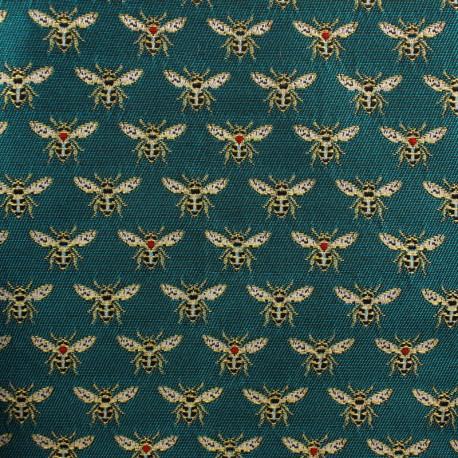 Jacquard fabric - Peacock Bee x 10cm