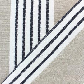Tissu tissé coton Colaba - beige x 10cm