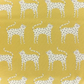 Cotton Dashwood fabric - mustard Ditsie Leopard x 10cm