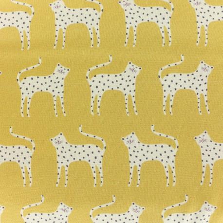 Tissu coton Dashwood Ditsies - moutarde x 10cm