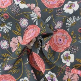 Dashwood studio Rayon fabric - Grey Scarlett x 10cm