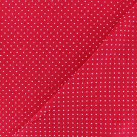 Tissu coton popeline Mini étoile - rouge x 10cm