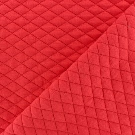 Quilted fabric single-sided Diamond - red x 10cm