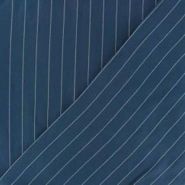 Tissu Viscose rayé Gabrielle - bleu marine x 10cm