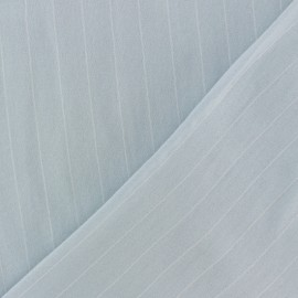 ♥ Coupon 70 cm X 150 cm ♥  Striped Viscose fabric - sky blue Gabrielle