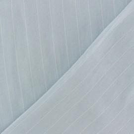 ♥ Coupon 70 cm X 150 cm ♥  Tissu Viscose rayé Gabrielle - bleu ciel