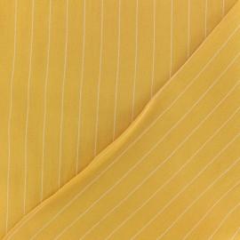 Striped Viscose fabric - white Gabrielle x 10cm